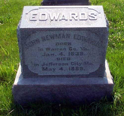 John Edwards Tombstone